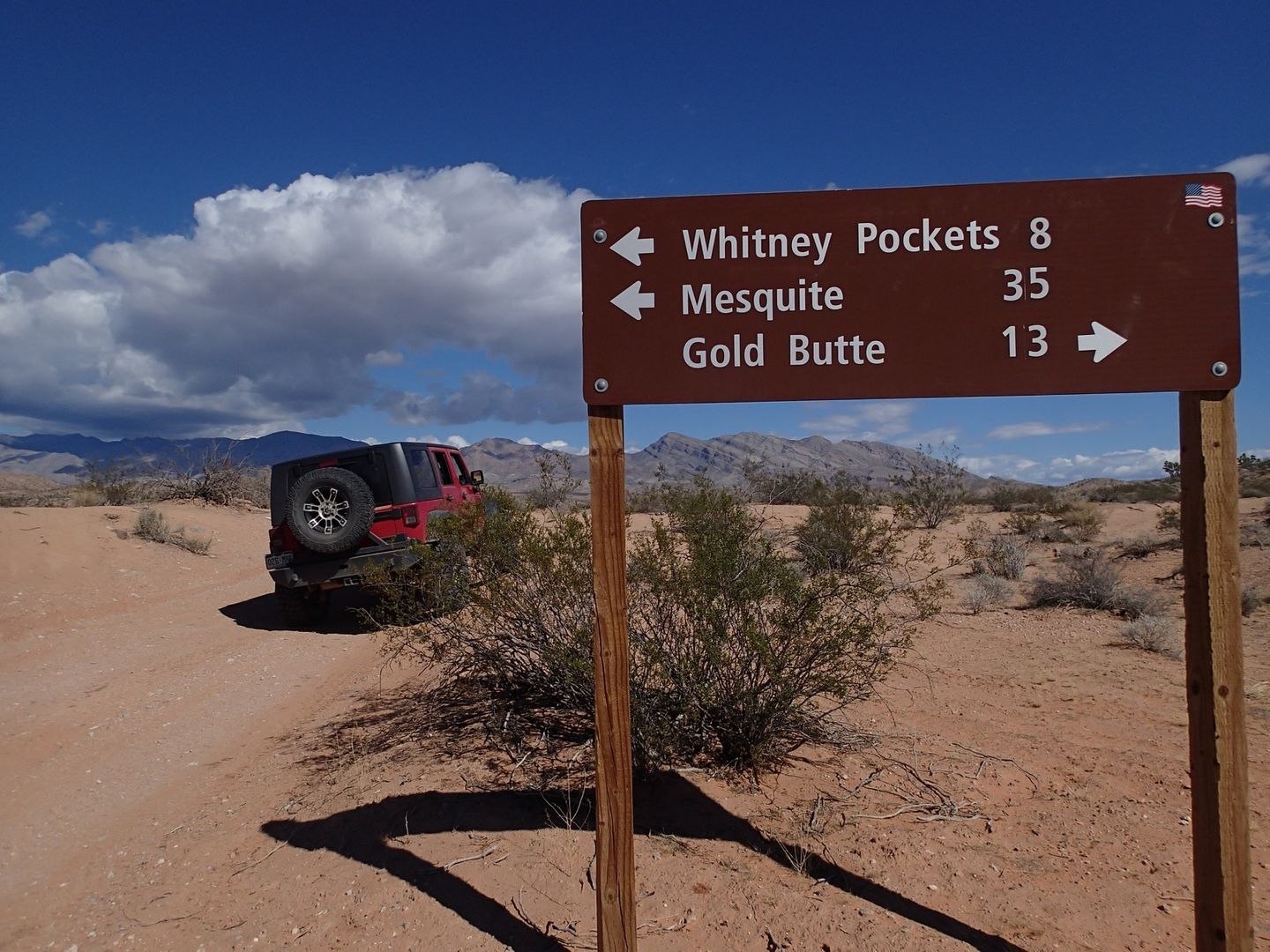 Gold Butte Backcountry Byway - Waypoint 29: End