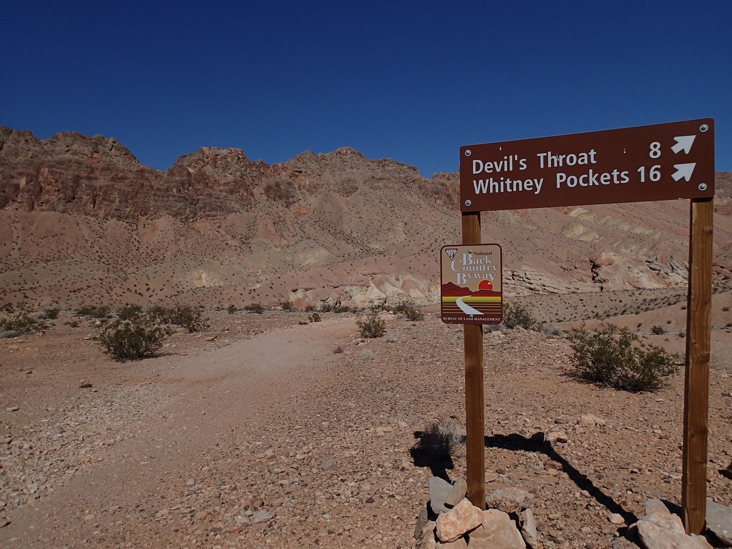 Gold Butte Backcountry Byway - Waypoint 23: Mud Wash Road to Devils Throat and Whiney Pockets