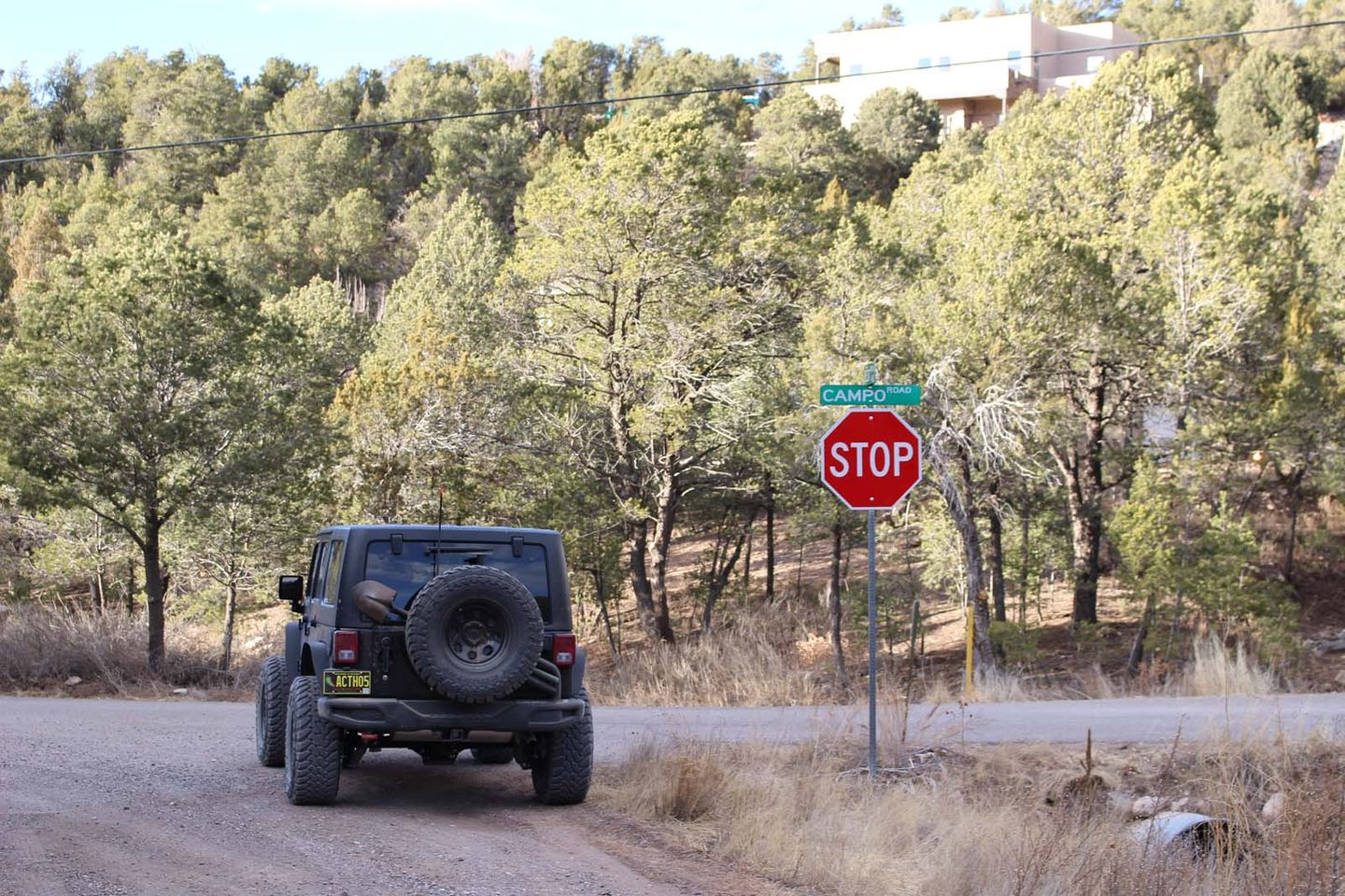 Chamisoso Canyon - Waypoint 12: East Trailhead - Campo Road