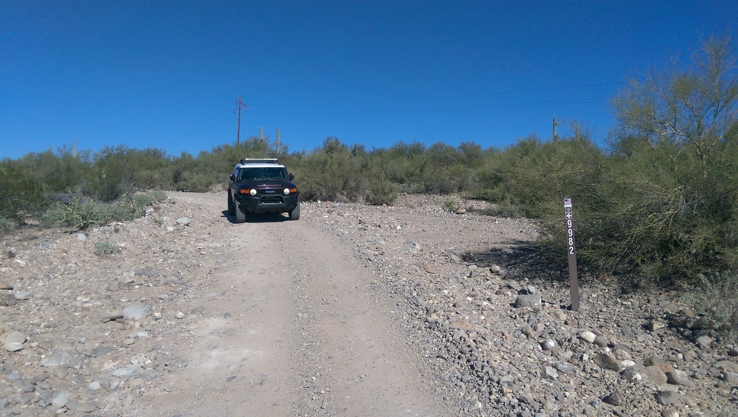 Old Black Canyon Highway - Waypoint 14: 9982 & Private Land / Moores Gulch