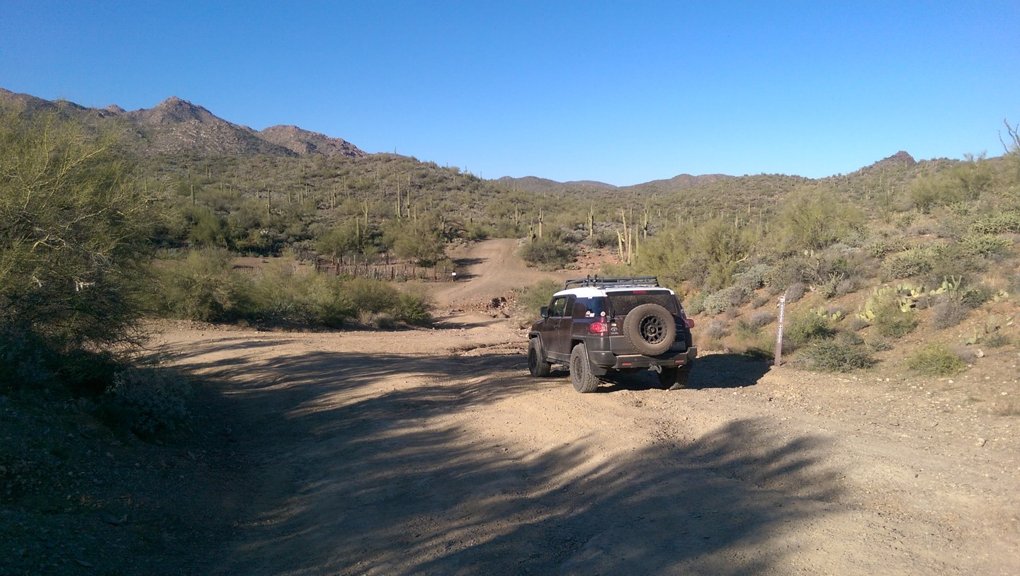 Black Canyon OHV Trail - Waypoint 1: 9999 & 9958 & 9959 Intersection