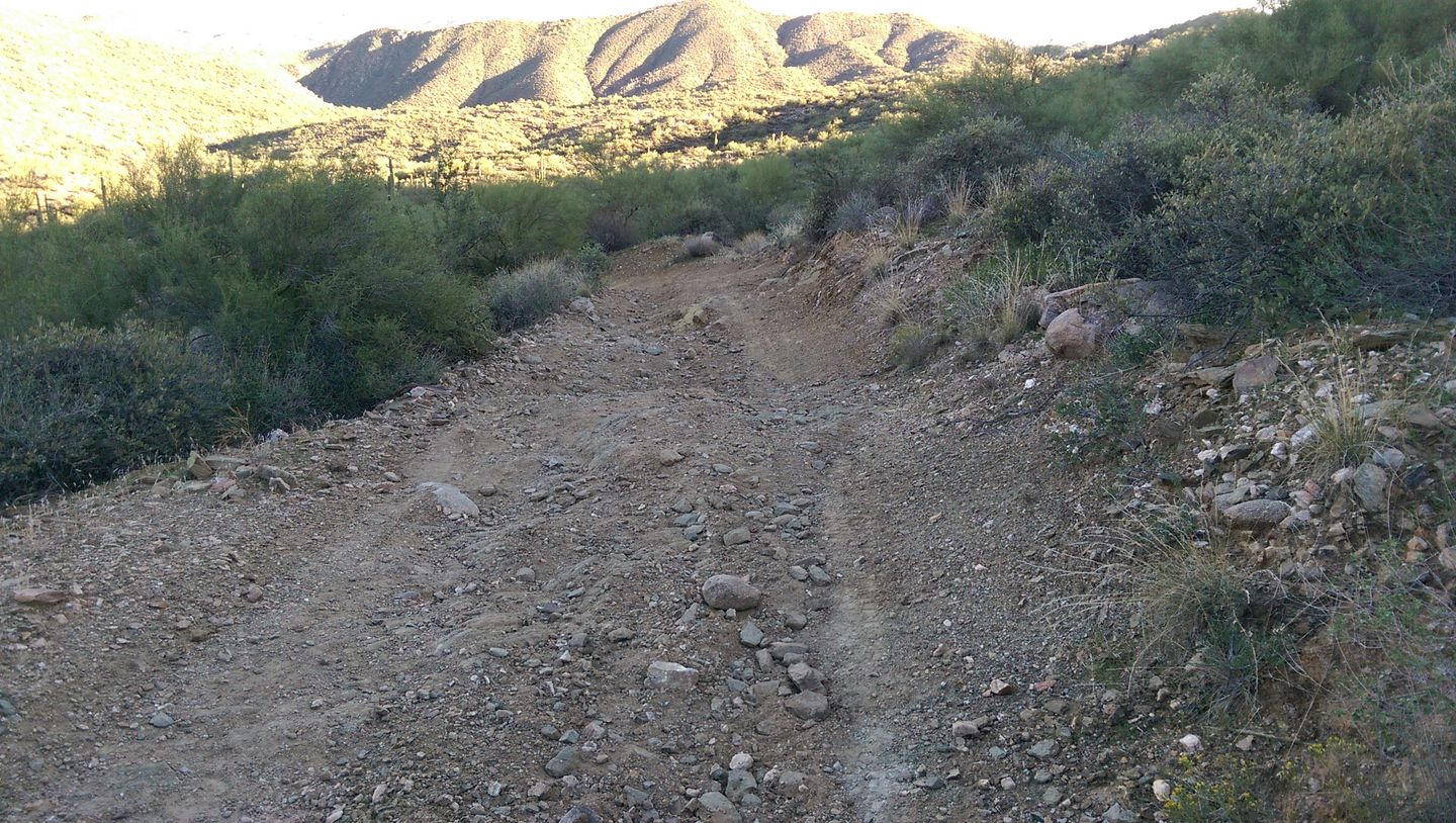 Black Canyon OHV Trail - Waypoint 10: Tight Rutted Hill Turn
