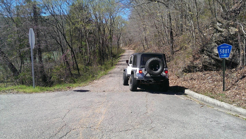 Carwash Falls - Waypoint 1: Carwash Falls Trailhead