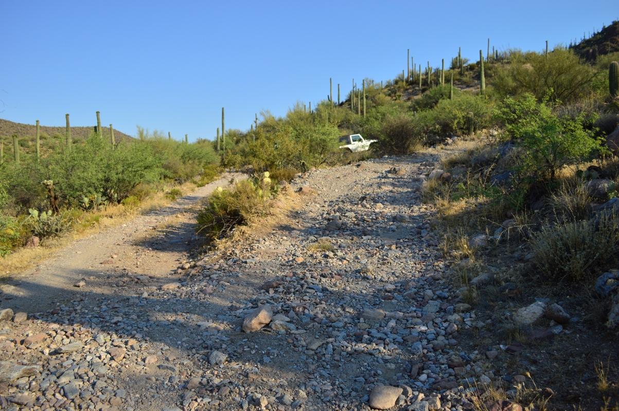 Millsite Canyon Trail Arizona - Waypoint 10: TURN RIGHT ON FR237