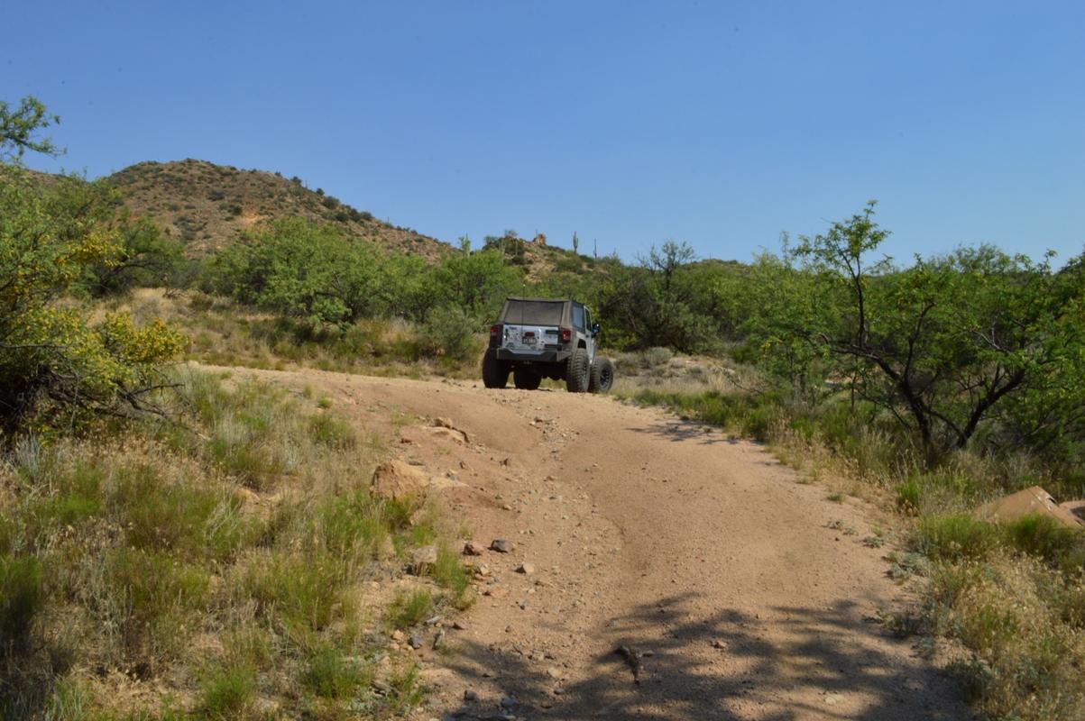 Millsite Canyon Trail Arizona - Waypoint 14: STAY RIGHT
