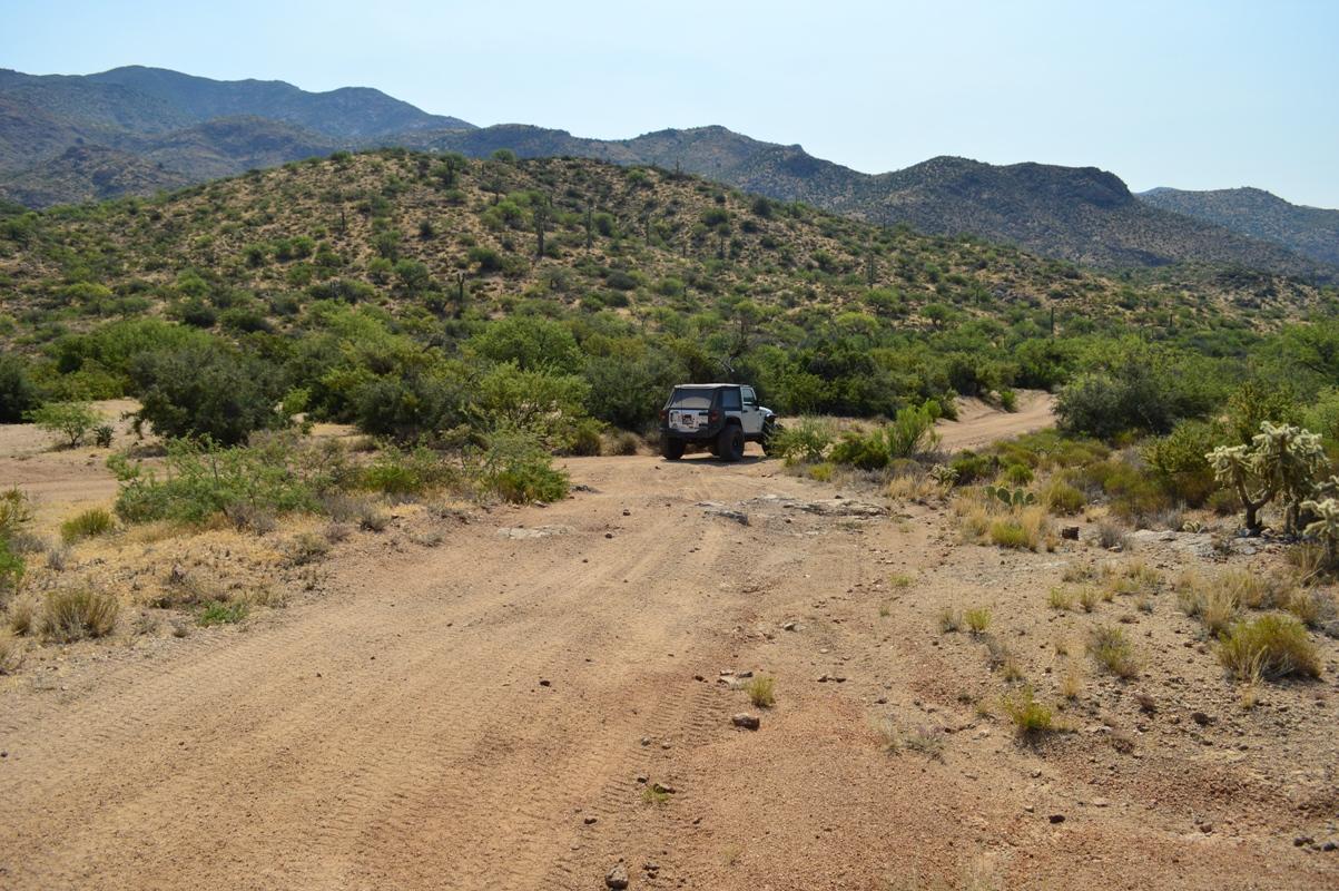 Millsite Canyon Trail Arizona - Waypoint 16: TRAIL END FR172