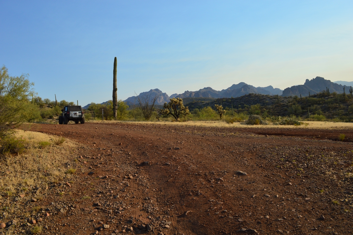 Millsite Canyon Trail Arizona - Waypoint 4: CAMPSITE WITH A VIEW