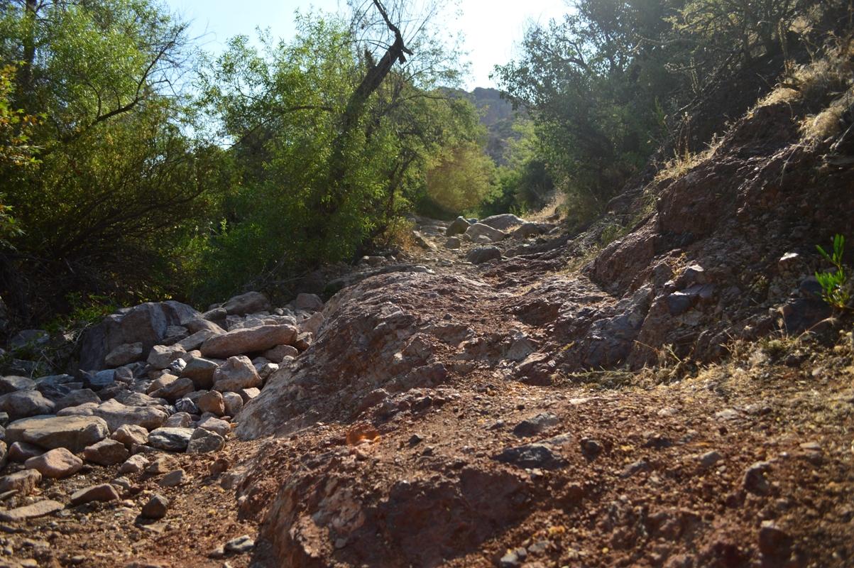 Millsite Canyon Trail Arizona - Waypoint 12: DIFFICULT ROCK CLIMB