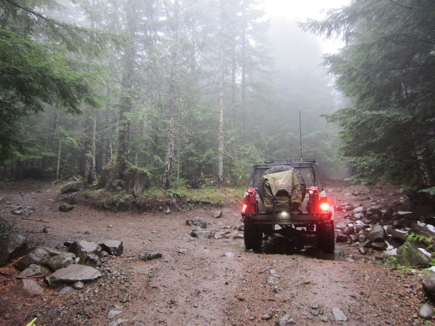 "Firebreak Five / Tillamook State Forest - Waypoint 11: Stay Right to Stay on Firebreak Five -- Left Goes to ""Crushers"""