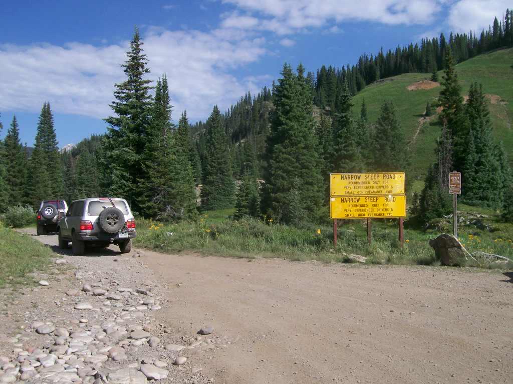Schofield Pass - Waypoint 3: Warning Sign