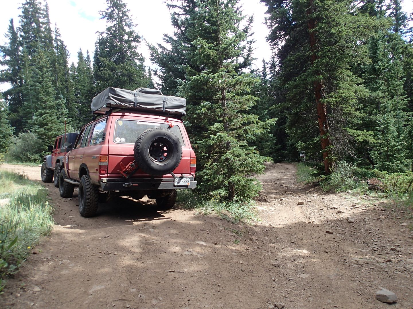 Brown's Pass  - Waypoint 1: Upper Trailhead/Intersection FS Road 175