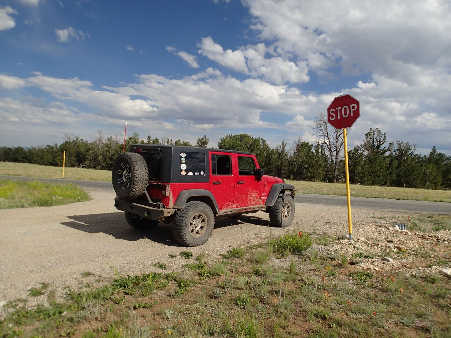 Brown's Pass  - Waypoint 9: Lower Trailhead/End at Intersection County Road 20