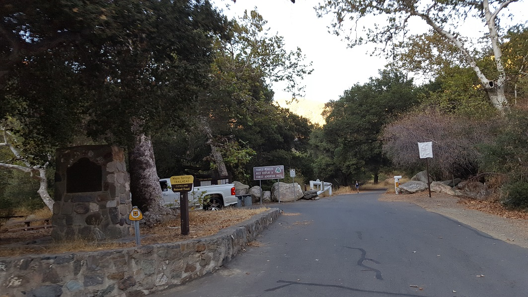 Maple Spring Road - Silverado Canyon - 5S04 - Waypoint 1: Silverado Gate