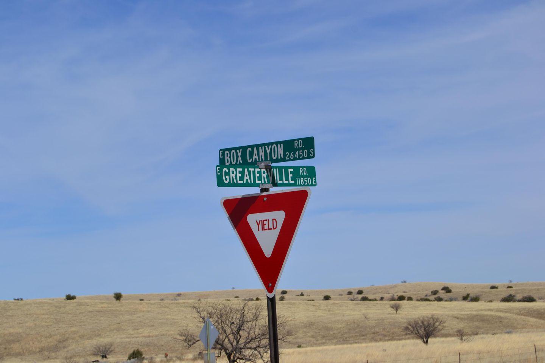 Greaterville Road / FR 229, Arizona - Waypoint 1: Greaterville Turnoff  FR#229 Left Fork (SW)