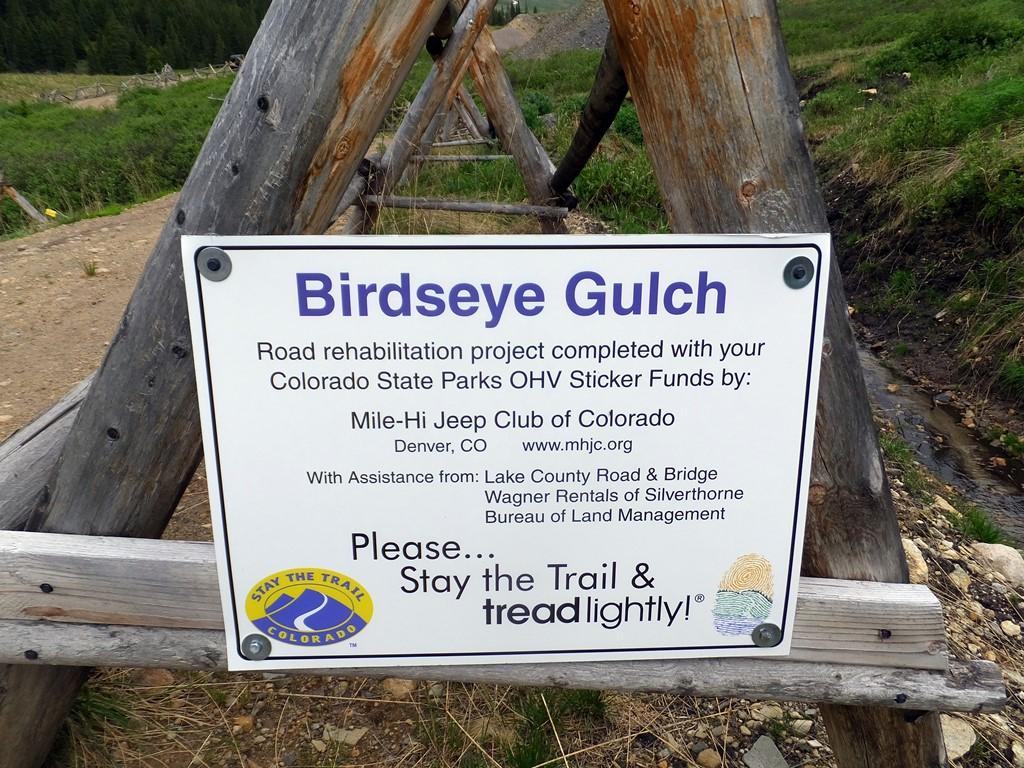 Birdseye Gulch - Waypoint 6: Repaired Mud Bog