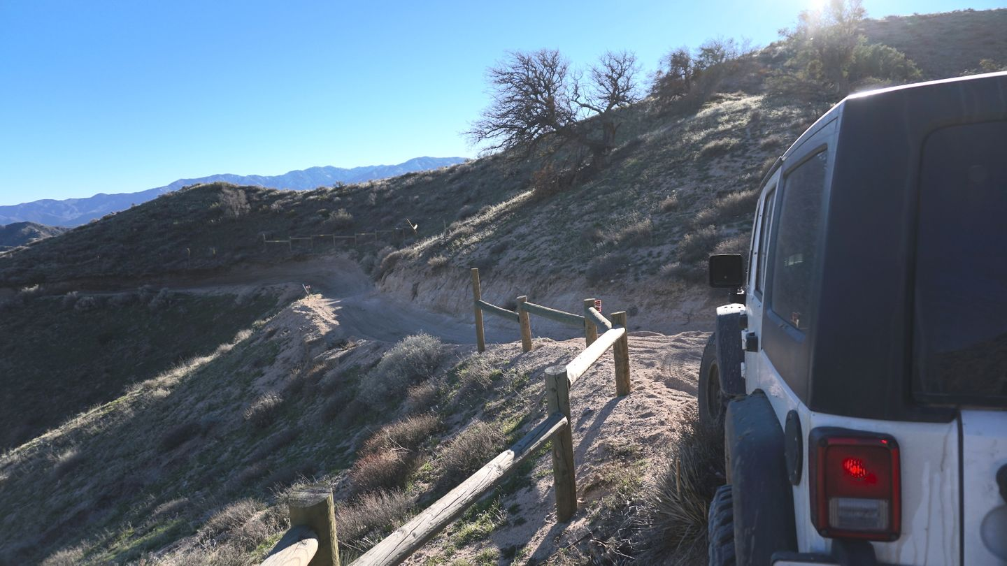 Hungry Valley SVRA - Pronghorn Trail - Waypoint 5: Turnout