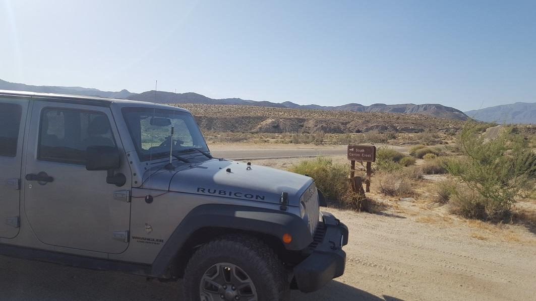 South Carrizo Creek - Anza Borrego - Waypoint 1: South Carrizo Trailhead
