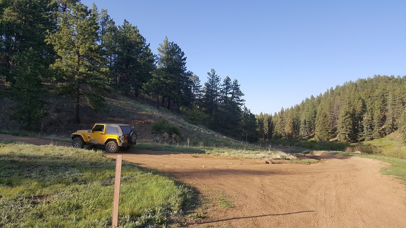 Manchester (Manchester Creek) - Waypoint 12: Intersection with Phantom Meadow (FS 364.A) & FS 970 (Campsites)