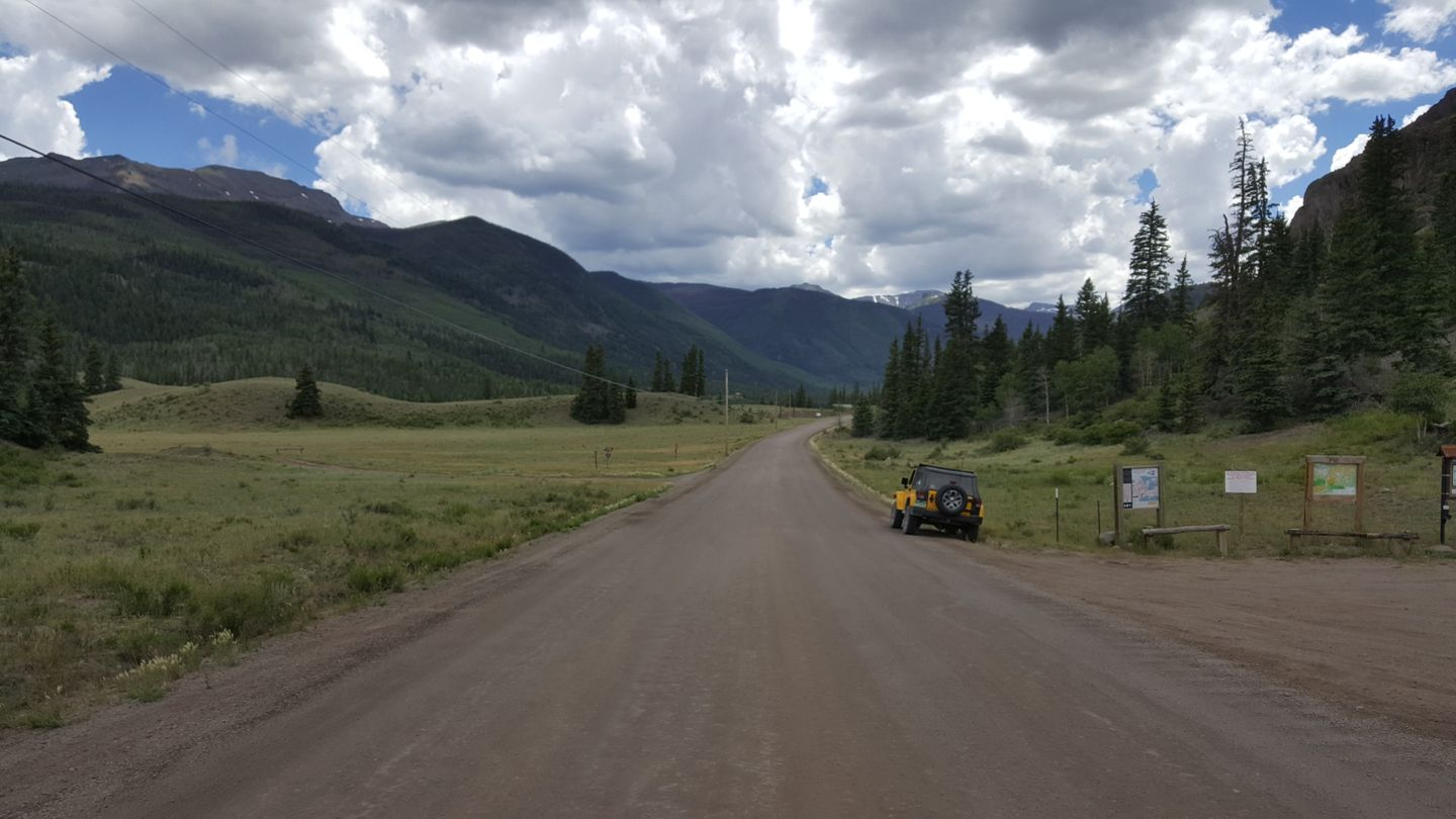 Cinnamon Pass - Waypoint 3: ATV Staging Area and Parking Lot