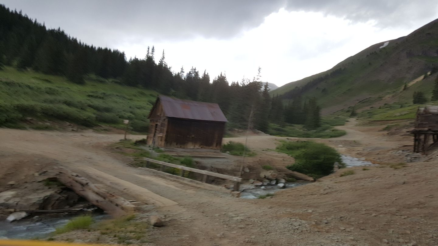 Cinnamon Pass - Waypoint 22: Trail Ends in Animas Forks at CR 9