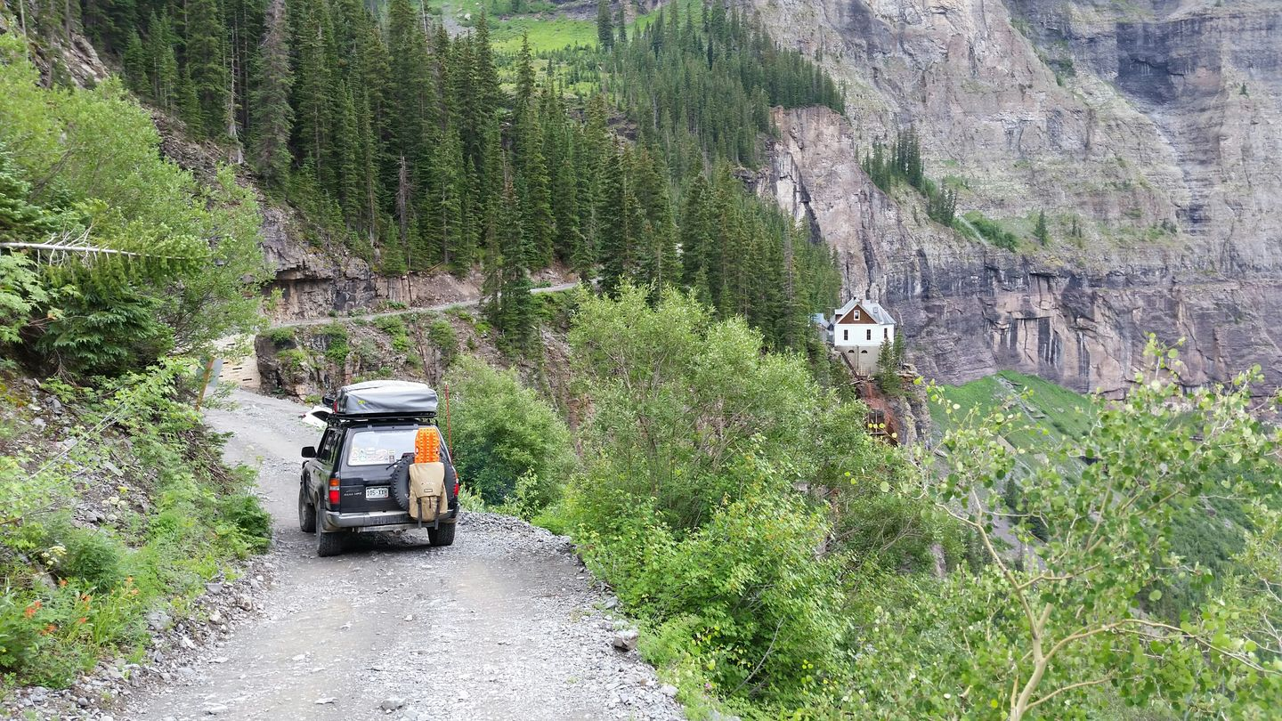Black Bear Pass - Waypoint 11: Bridal Veil Powerhouse- Begin Two Way Traffic