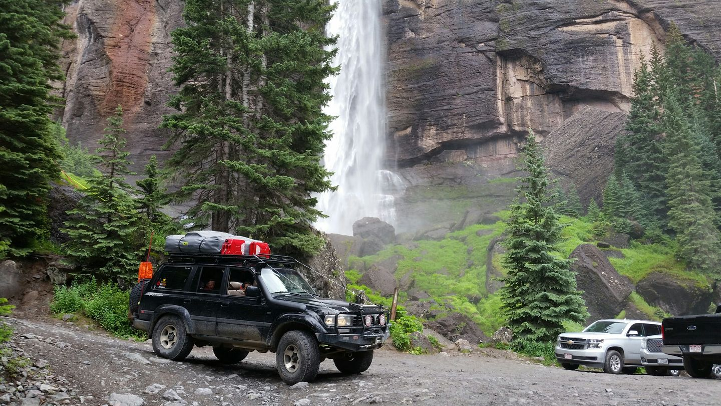 Black Bear Pass - Waypoint 13: Base of Bridal Veil Falls