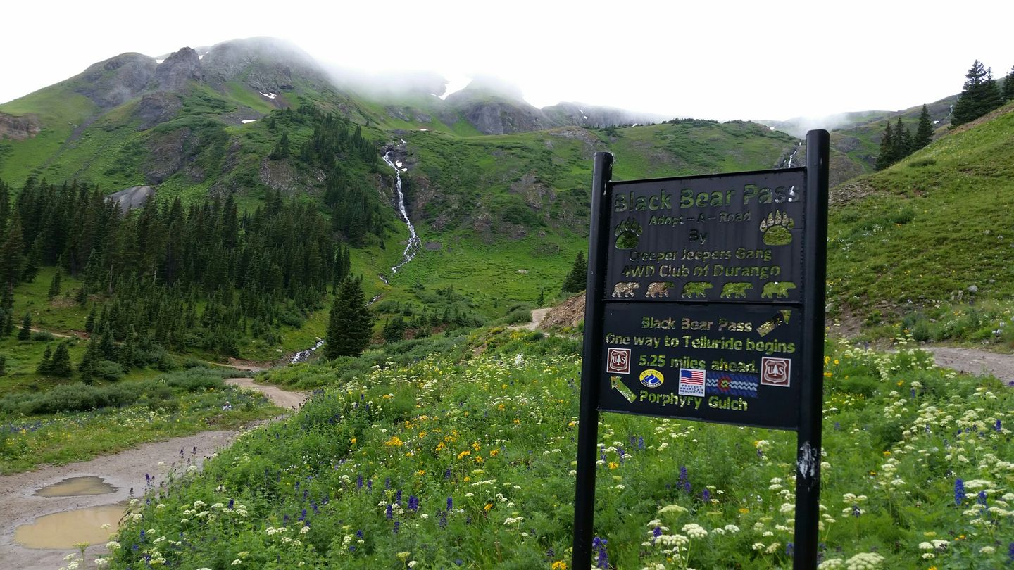 Black Bear Pass - Waypoint 3: Porphyry Gulch Intersection