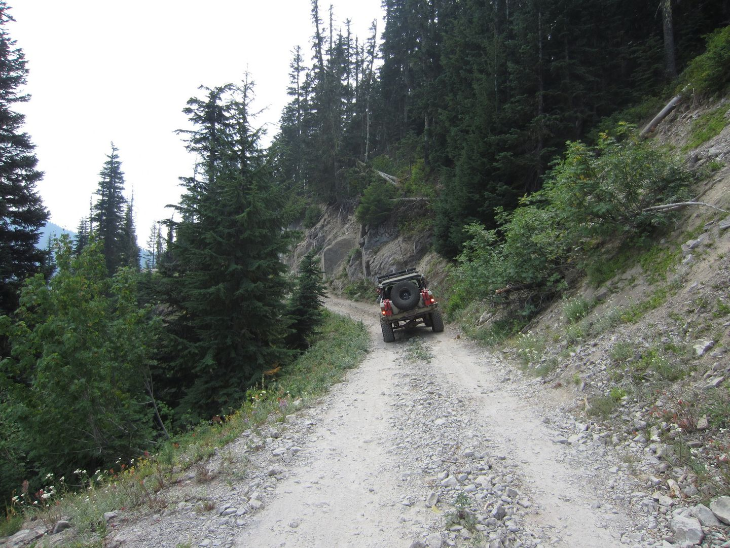 Bennett Pass Road - Waypoint 6: Shelf Road Obstacle
