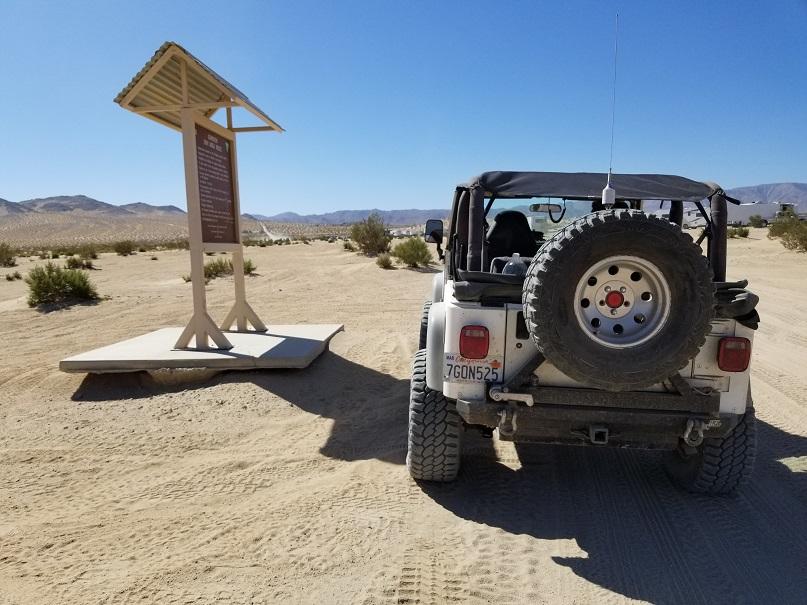 Morongo Basin Desert Run Road - Johnson Valley - Waypoint 1: Desert Run Road and Boone Road