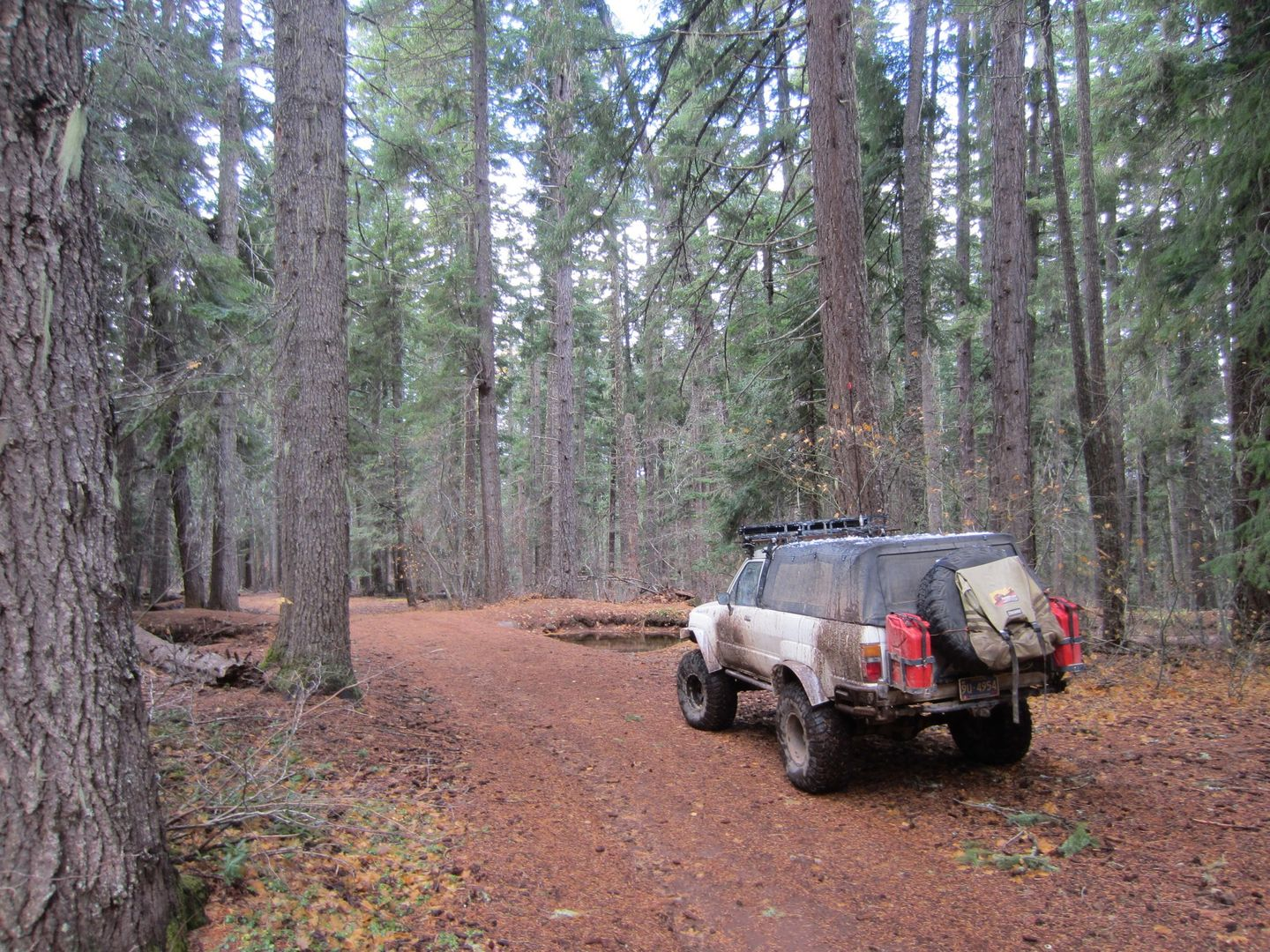 Barlow Trail - Waypoint 14: Lost Boulder Ditch and Campsite with Picnic Table