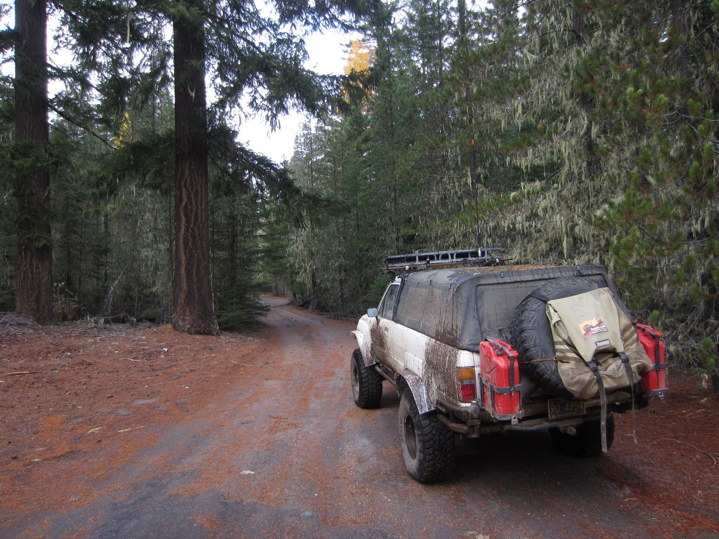 Barlow Trail - Waypoint 31: Continue Straight Across Cedar Butte Road (NF-43)