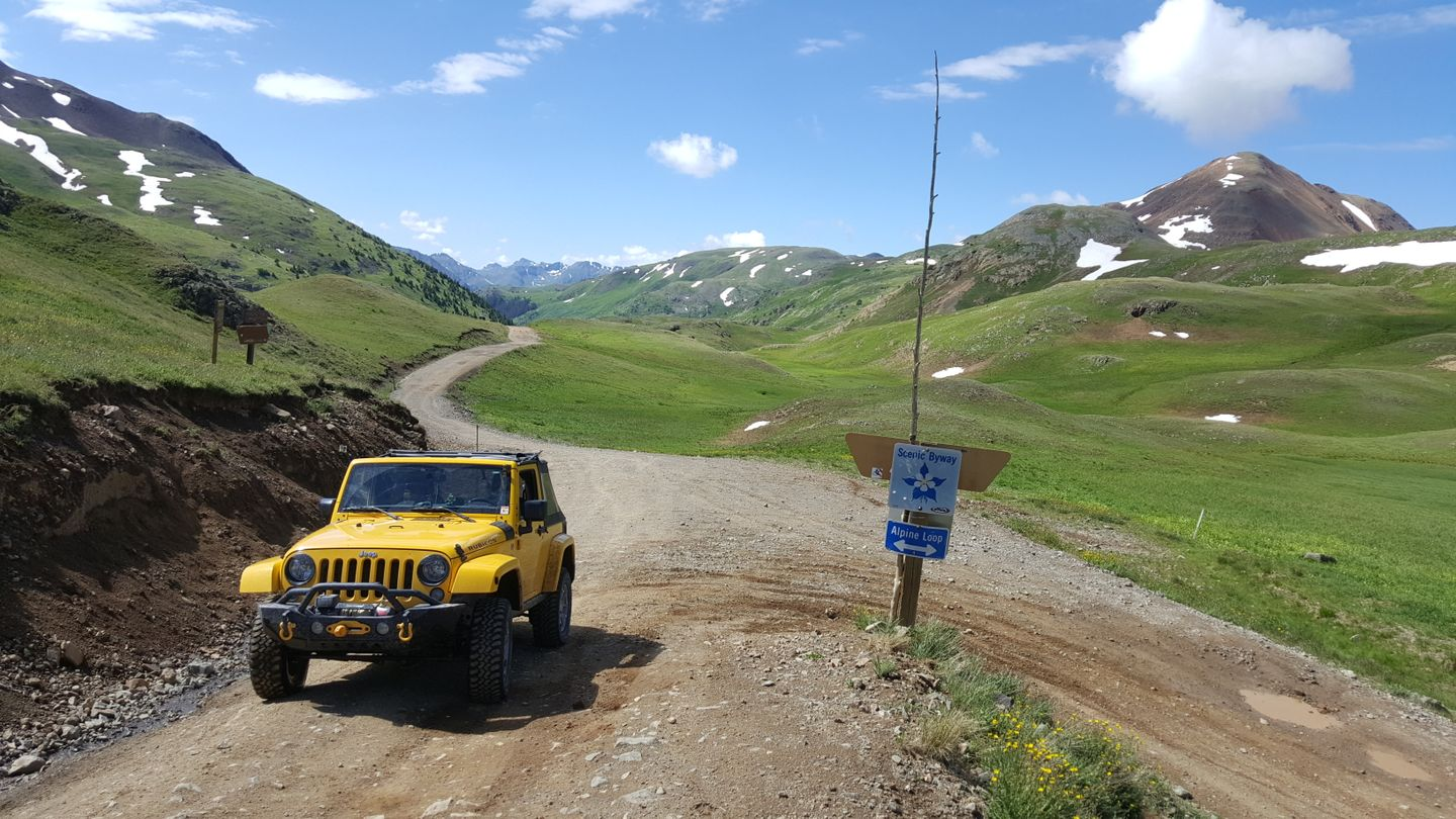 Engineer Pass - Waypoint 11: Intersection with Alpine Loop Connector