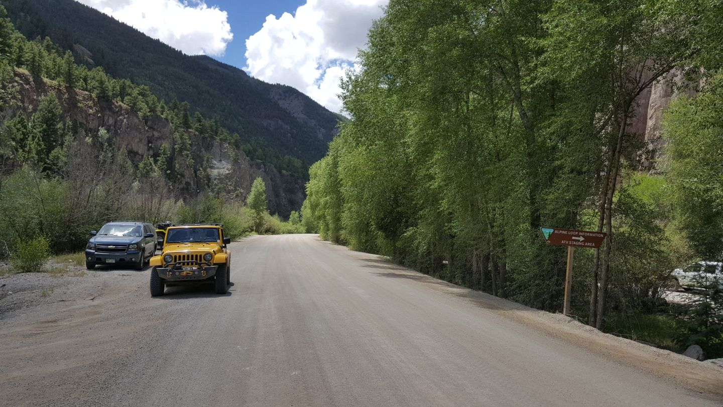Engineer Pass - Waypoint 32: ATV Parking Lot/Staging Area & Trail Entrance