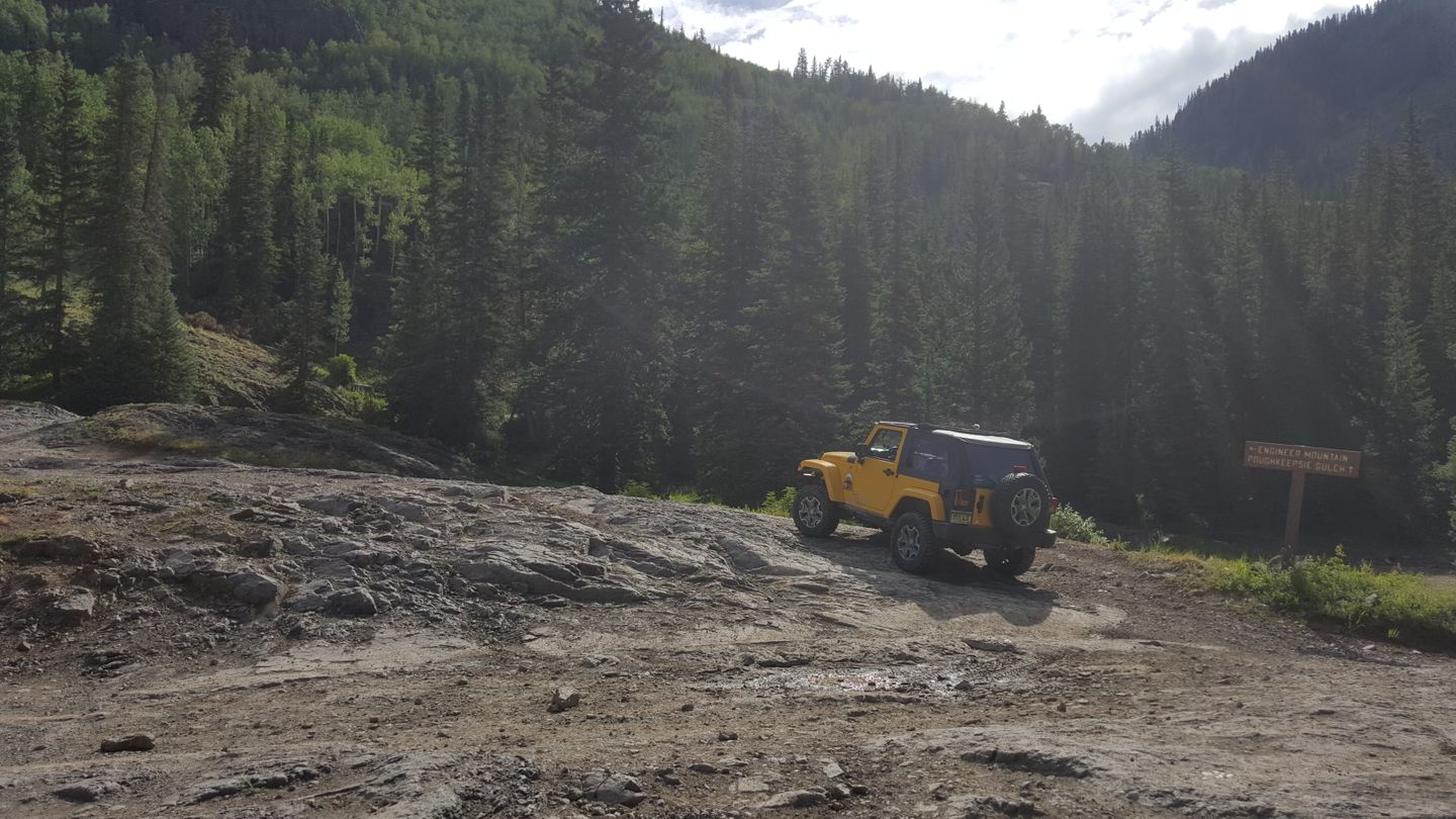 Engineer Pass - Waypoint 6: Intersection with Poughkeepsie & Rocky Climb Start