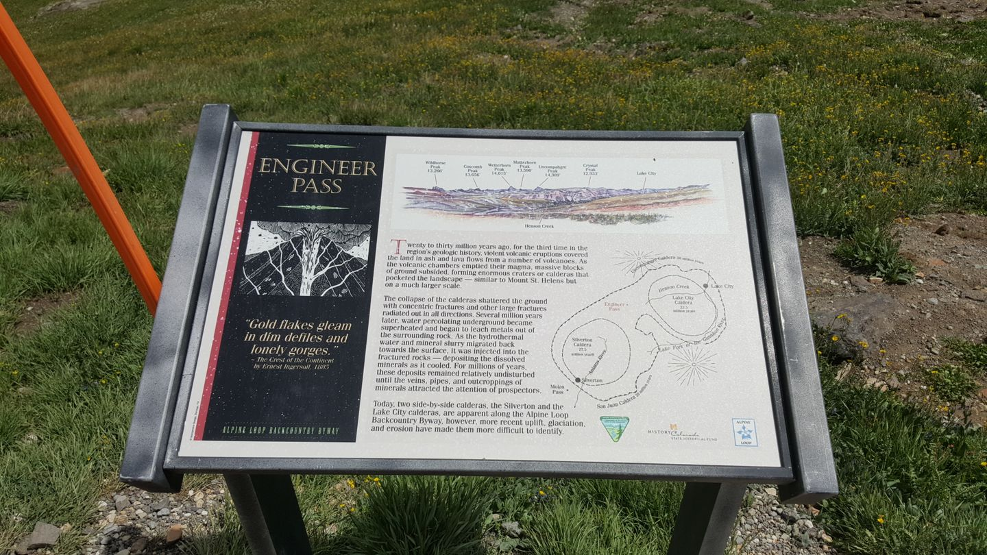 Engineer Pass - Waypoint 18: Informational Sign For the Trail