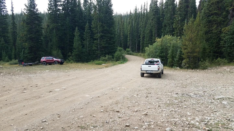 Georgia Pass - Waypoint 18: Large Camping/Parking Area