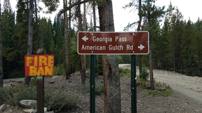 Georgia Pass - Waypoint 2: American Gulch/GH93