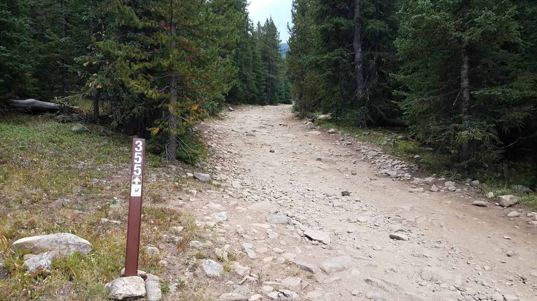 Georgia Pass - Waypoint 6: Camping Fork 2 of 3