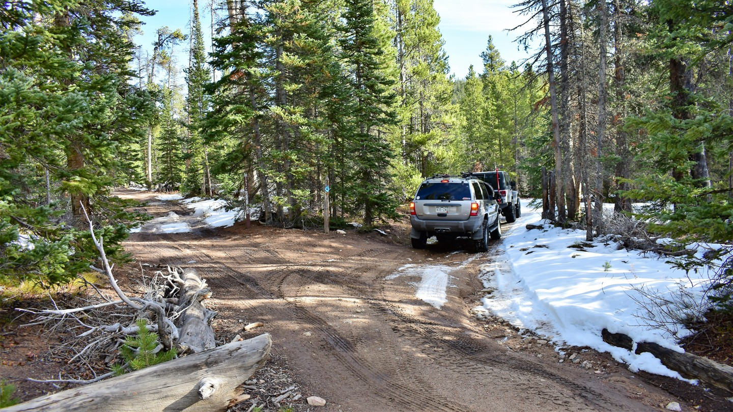 Green Ridge Trail - Waypoint 2: USFS #177C Intersection - Veer Right