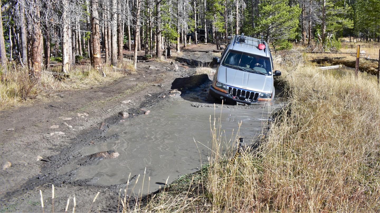 Green Ridge Trail - Waypoint 4: Rocky Mud Hole - Continue Straight