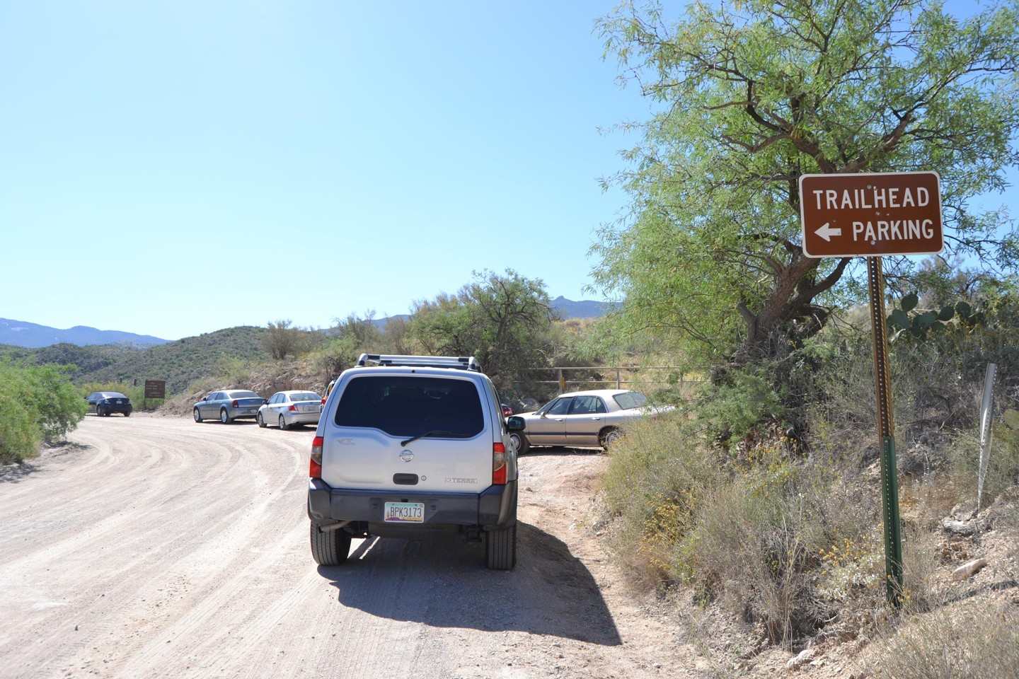 Redington Pass - Waypoint 4: Lower Tanque Verde Trail Parking lot (Stay Right)