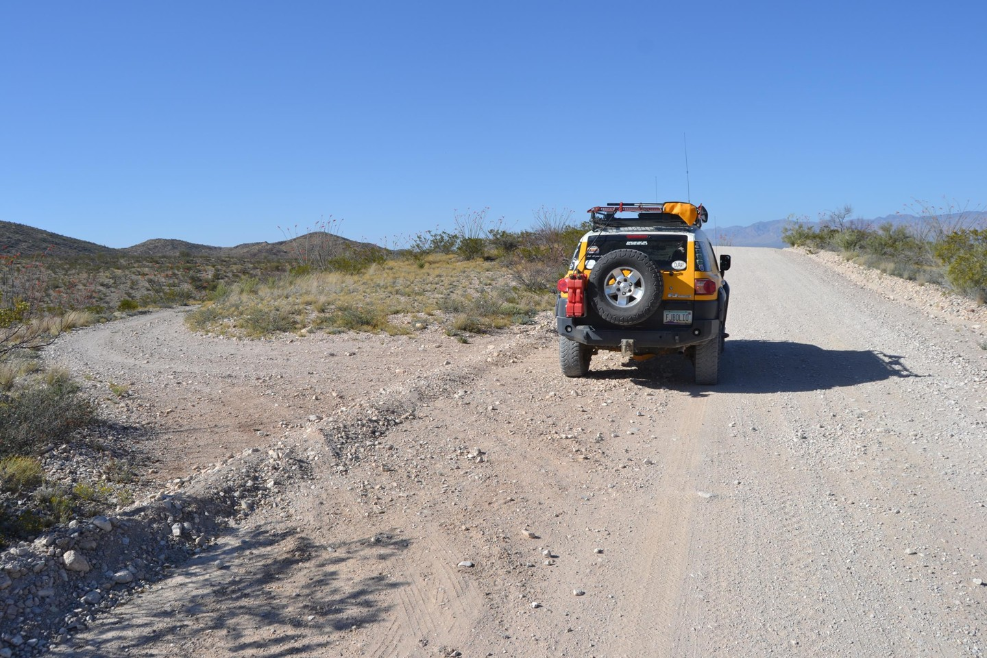 Redington Pass - Waypoint 44: 4x4 Road Down to Nice Wash (Stay Right)
