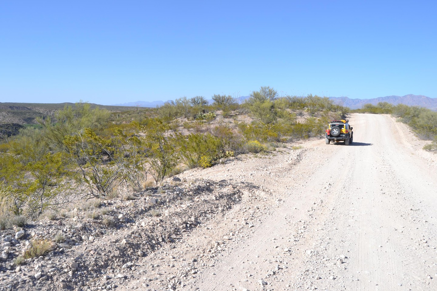Redington Pass - Waypoint 45: Unmarked Road to Gate and Beuhman Canyon Beyond (Stay Right)