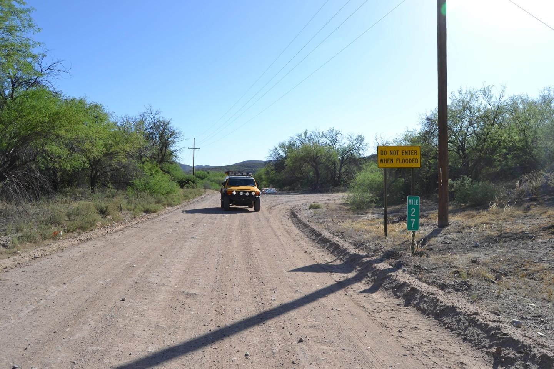 Redington Pass - Waypoint 50: Edgar Canyon road (Stay Right)