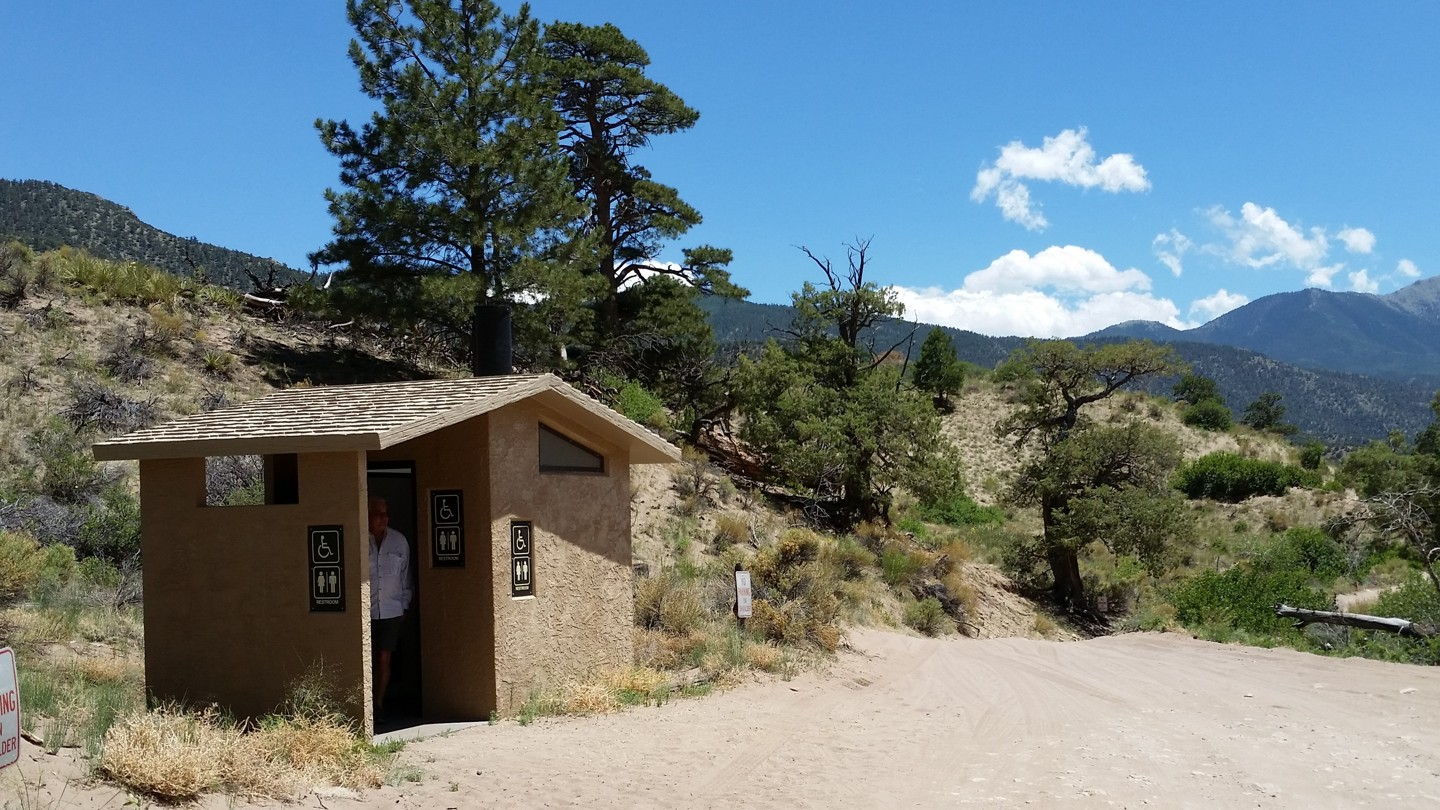 Medano Pass - Waypoint 12: Castle Creek Picnic Area With Modern Pit Toilet