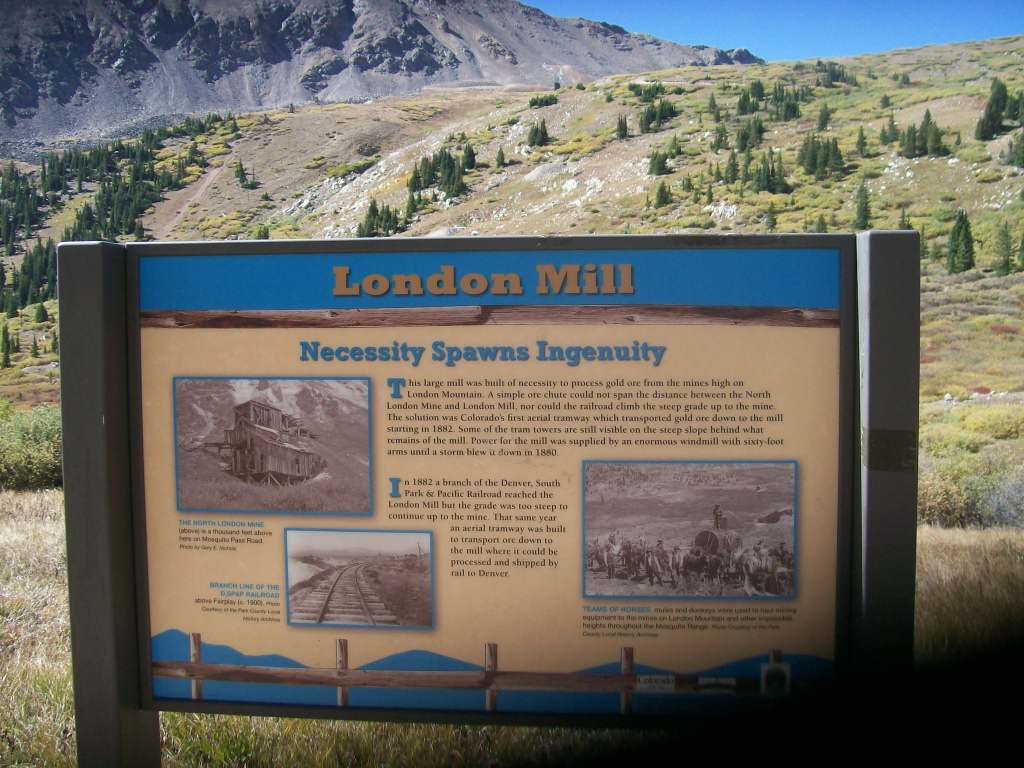 Mosquito Pass - Waypoint 4: London Mill Marker