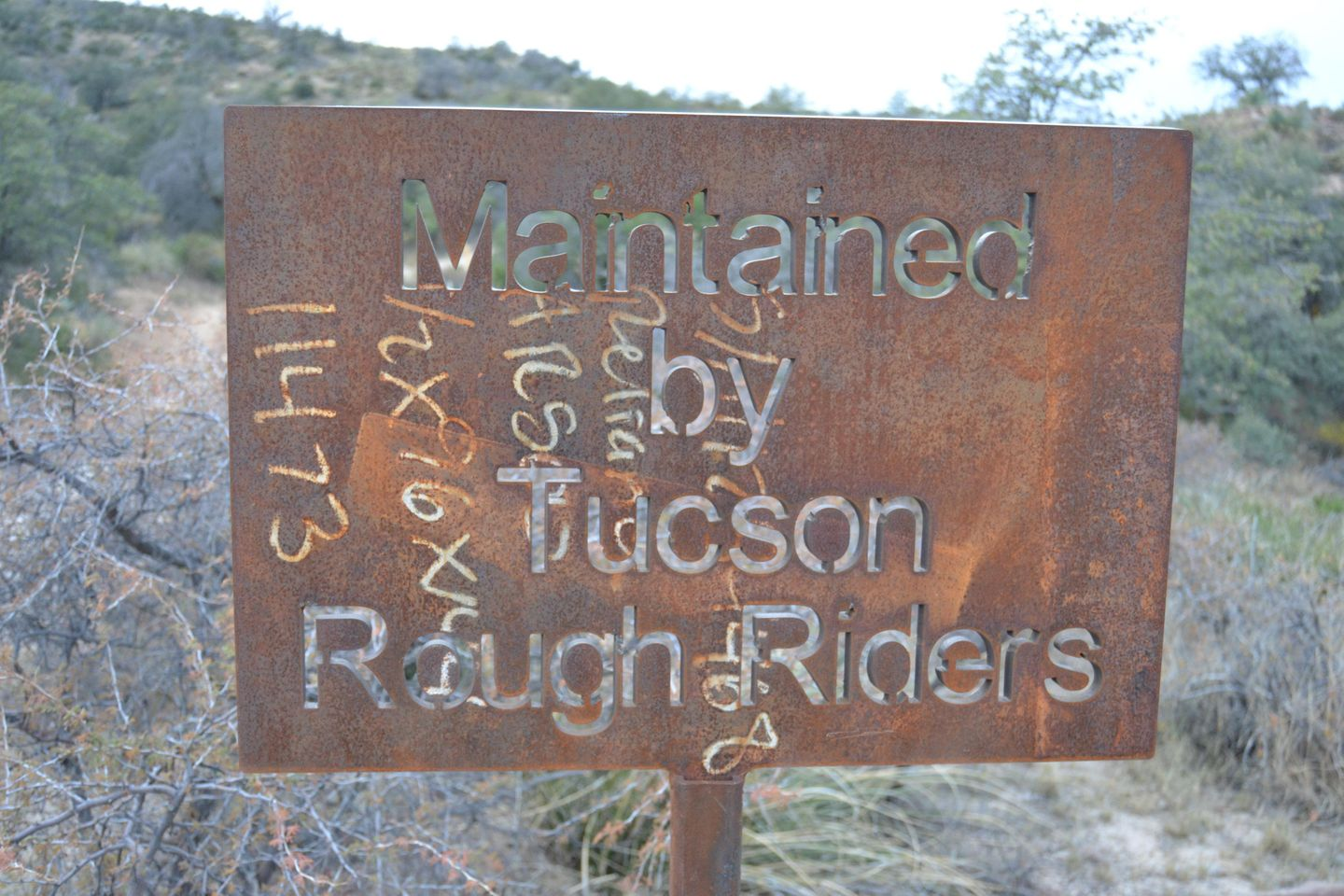 Charouleau Gap / FR# 736 - Waypoint 39: RoughRiders Sign