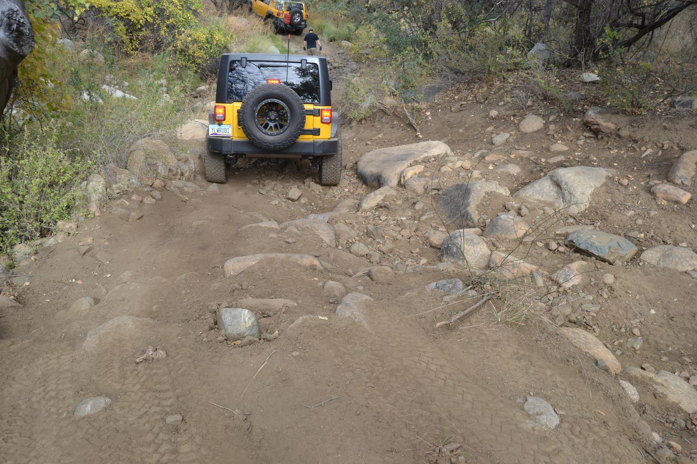 Charouleau Gap / FR# 736 - Waypoint 25: Steep Boulder Descent