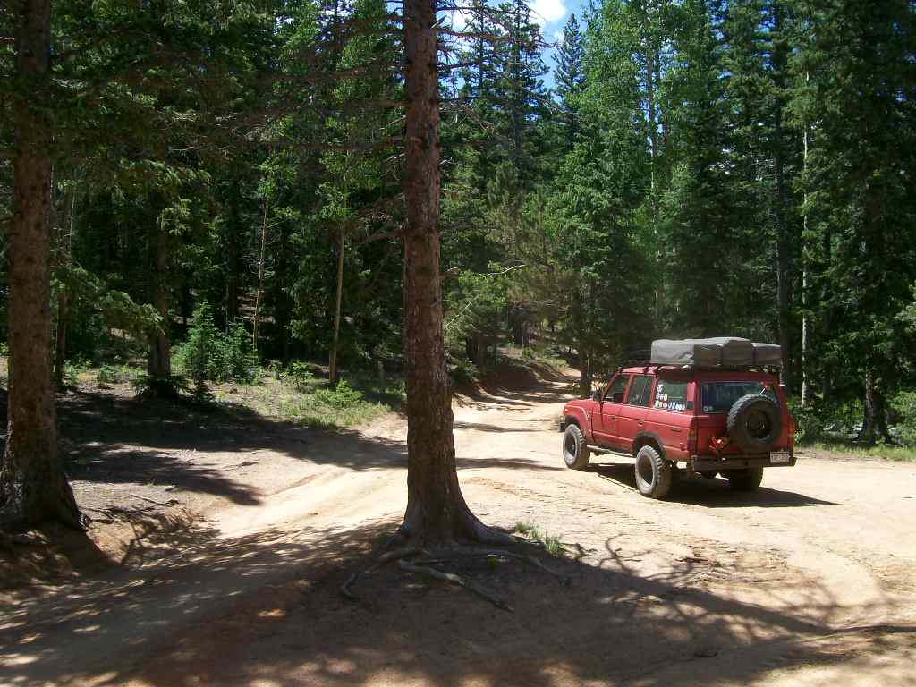 Mount Baldy - Waypoint 5: Intersection FS Roads 701 and 672