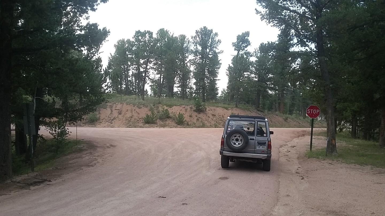 Mount Herman Road - Waypoint 7: End at 300 Rampart Range Road